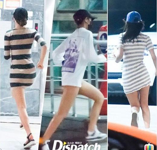 Seolhyun mặc đầmsiêu ngắn đến nhà bạn trai.