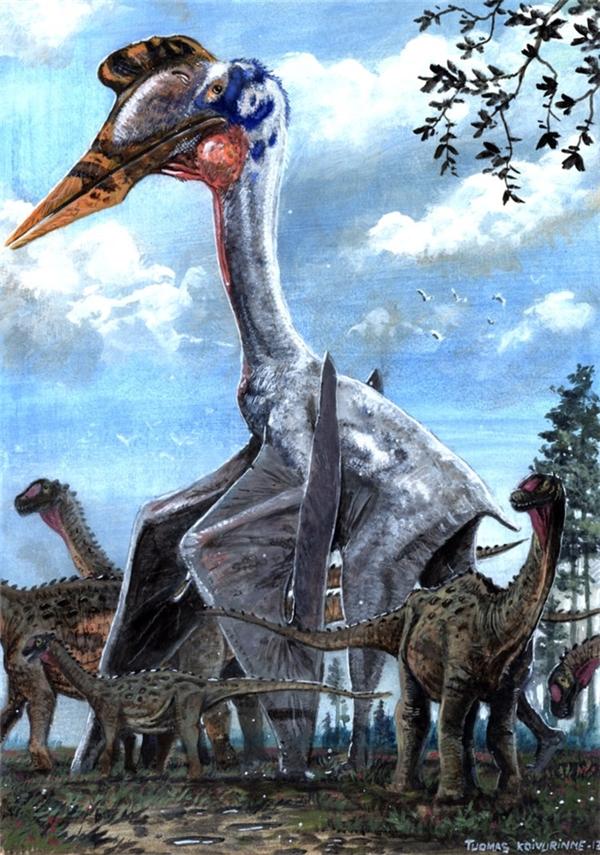 Thằn lằn bay khổng lồ Quetzalcoatlus từng thống trị bầu trời rộng lớn. (Ảnh: Internet)