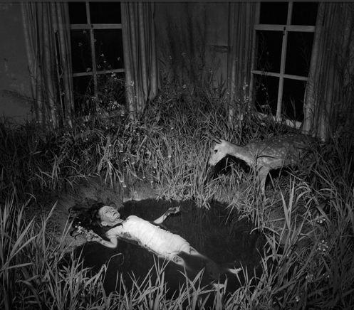 Một con ma-nơ-canh cũ bị bỏ lại trong ngôi nhà hoang.