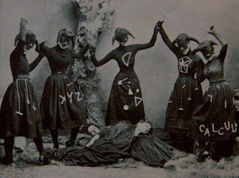 Một nghi thức kì quái của một hội kín nào đó thời xưa chăng?