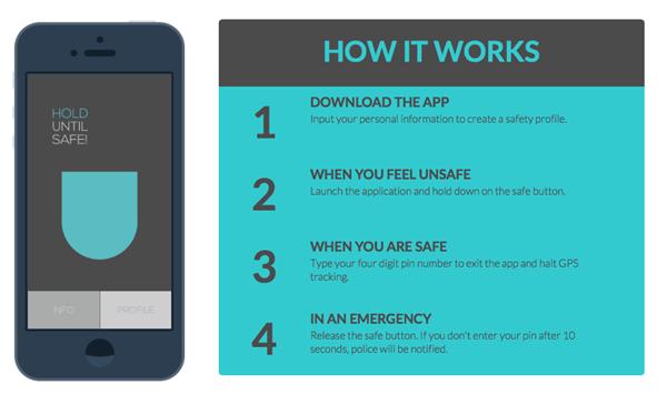 Hiện có rất nhiều ứng dụng trên điện thoại giúp bạn bảo vệ an toàn. Trong trường hợp bị đe dọa, chỉ cần bấmnút, máy sẽ phát tín hiệu cầu cứu.