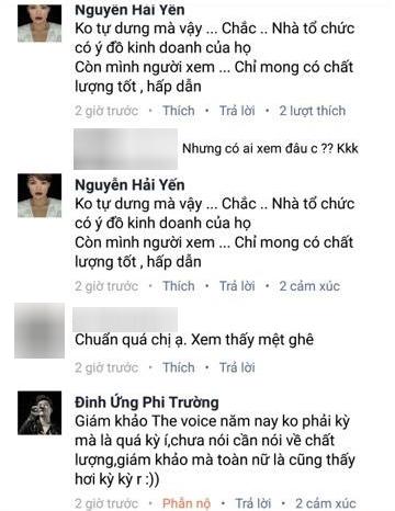 """Thậm chí, Đinh Ứng Phi Trường còn khẳng định lại lời chia sẻ của mình trong đoạn bình luận với nữ ca sĩ Hải Yến Idol: """"Giám khảo mà toàn nữ là cũng thấy hơi kỳ kỳ rồi."""" - Tin sao Viet - Tin tuc sao Viet - Scandal sao Viet - Tin tuc cua Sao - Tin cua Sao"""