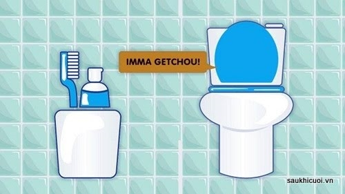 Việc đặt bàn chải đánh răng gần bồn cầu làm phát sinh rất nhiều vi khuẩn nguy hại.