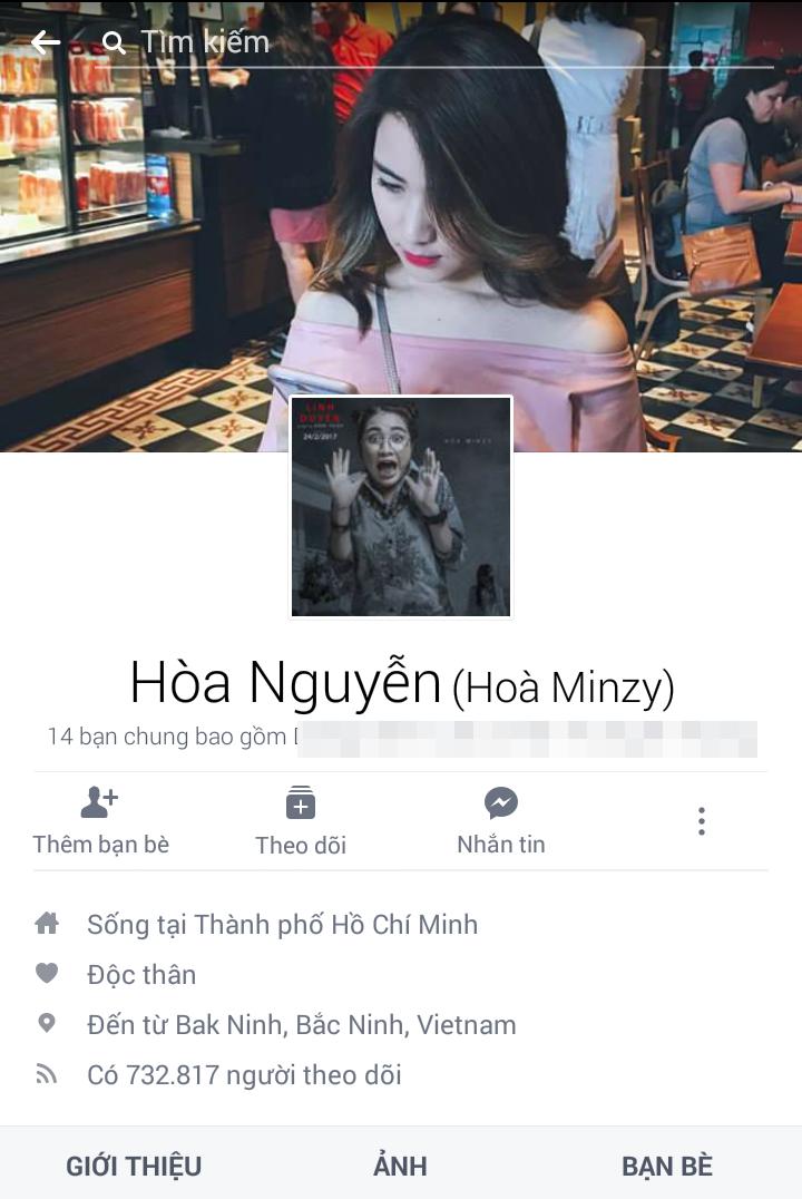 Hòa Minzy cũng là nghệ sĩ trẻ có khán giả đông đảo bật nhấc V-biz. Bằng chứng là có đến 732.817 người nhấn theo dõi trang cá nhân của cô. - Tin sao Viet - Tin tuc sao Viet - Scandal sao Viet - Tin tuc cua Sao - Tin cua Sao