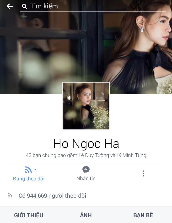 """Hồ Ngọc Hà với hơn 10 năm gia nhập làng giải trí đã mang về cho cô lượng theo dõi """"khủng"""" trên trang cá nhân: 944.669 người. - Tin sao Viet - Tin tuc sao Viet - Scandal sao Viet - Tin tuc cua Sao - Tin cua Sao"""