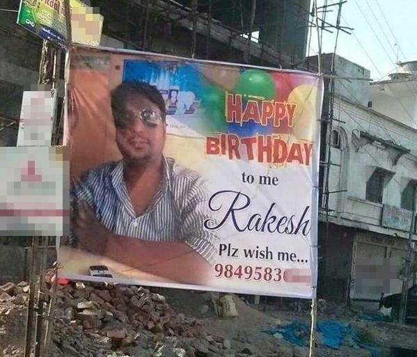 Đến cả sinh nhật mình cũng phải tự cho số điện thoại liên lạc thế này thì...