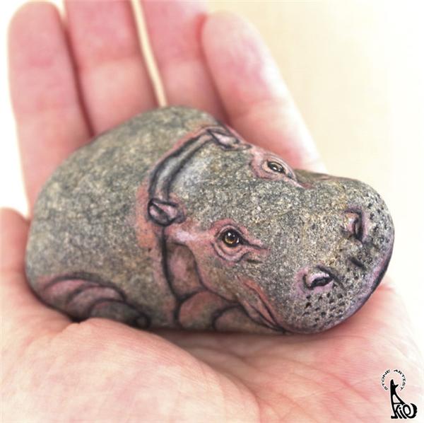 Hóa ra những con vật nhỏ bằng lòng bàn tay này là... những hòn đá.(Ảnh: Bored Panda)